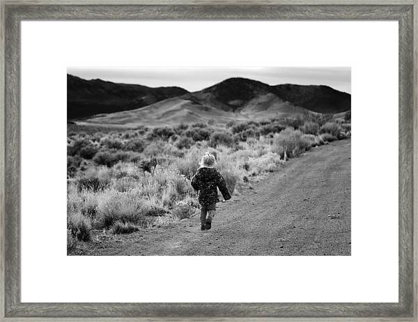 Toddler Framed Print featuring the photograph Into The Wild by Maria Jansson