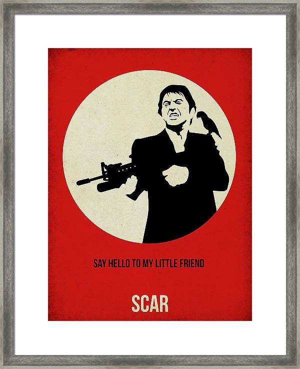 scarface poster framed print