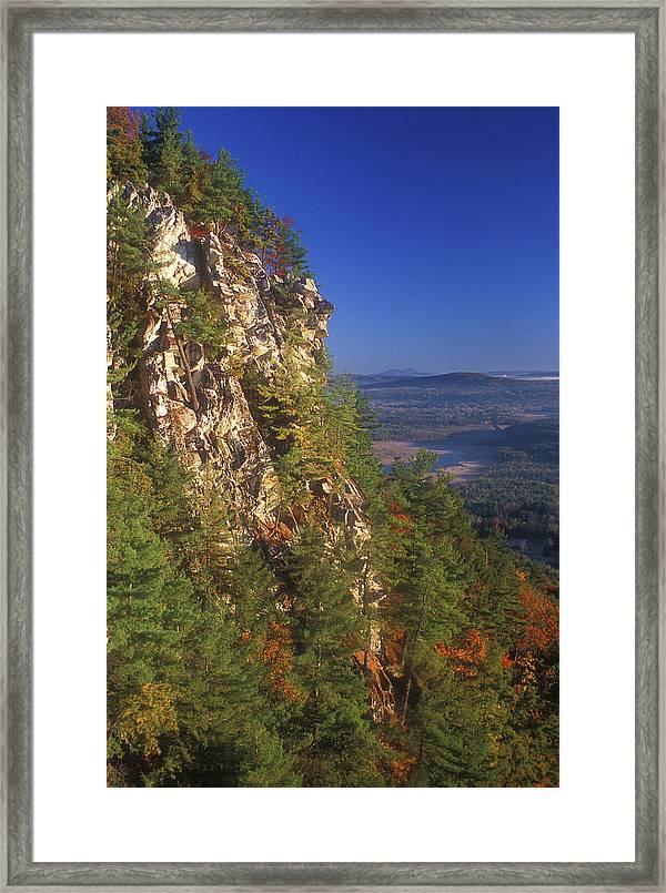His greatest love of coaching was seeing his past players grow and mature into amazing young men and women. Monument Mountain Cliffs Framed Print By John Burk