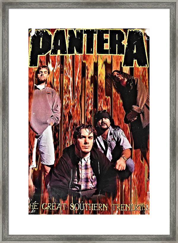 pantera heavy metal band poster framed print