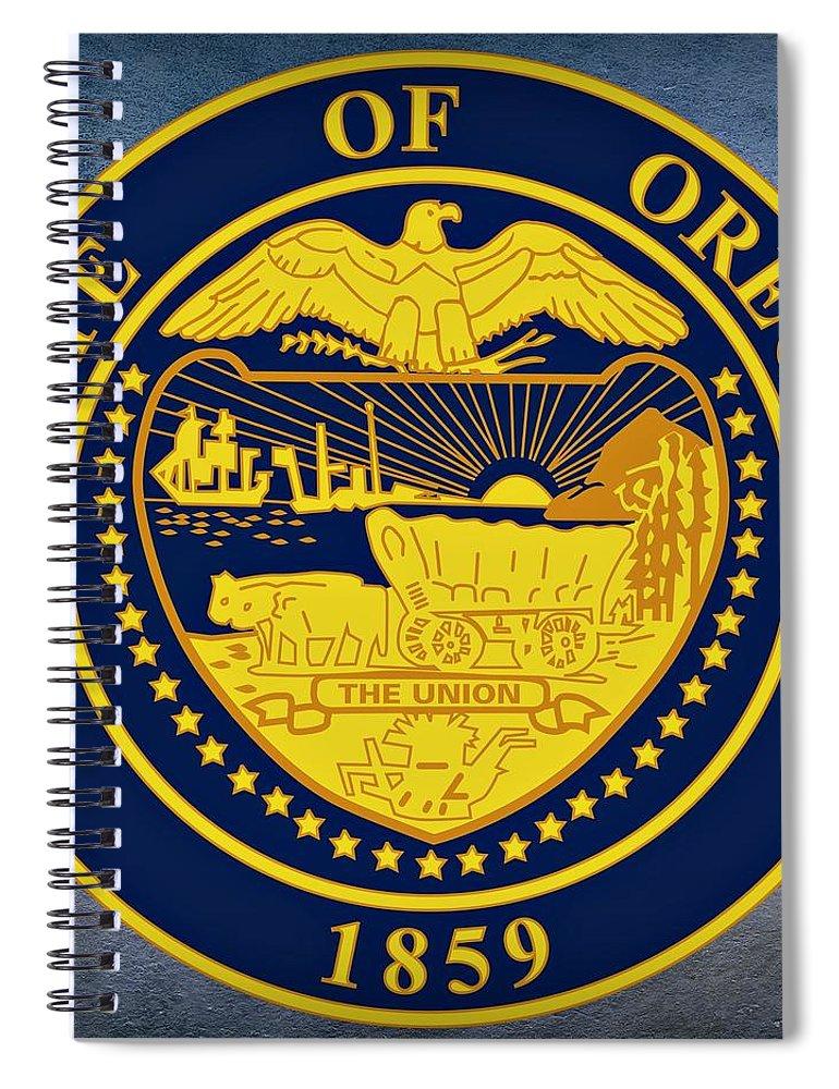 oregon state seal spiral notebook
