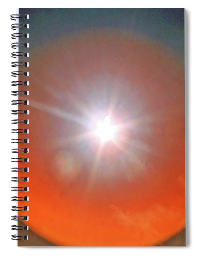 Abstract Spiral Notebook featuring the photograph Solar Eclipse Outer Space by Holly Morris