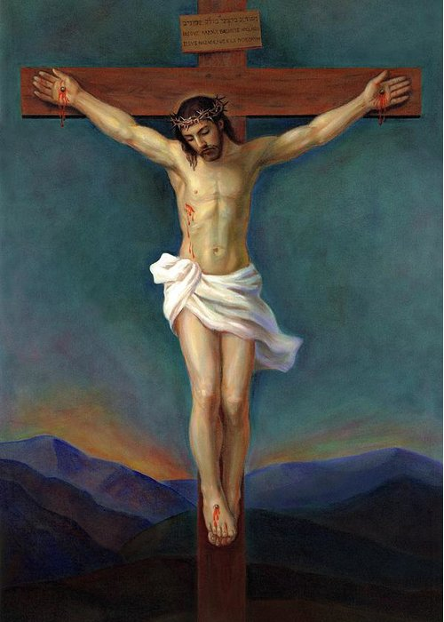 Jesus Christ On The Cross Crucifixion Painting By Svitozar Nenyuk