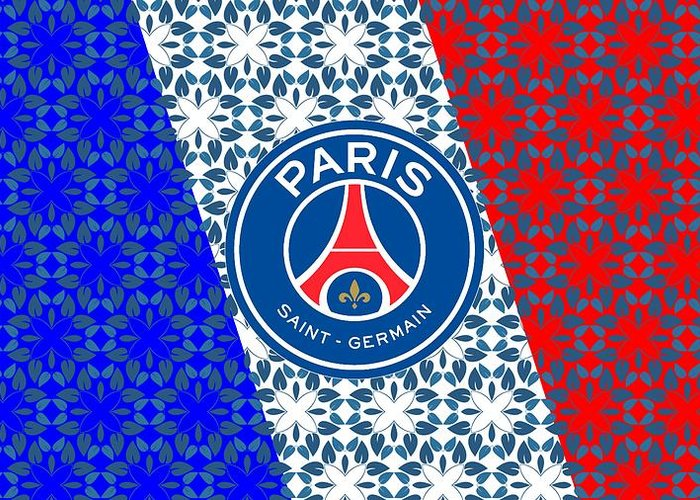 psg wallpaper greeting card