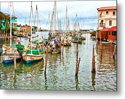 Belize City Harbor Digital Paint by Tatiana Travelways