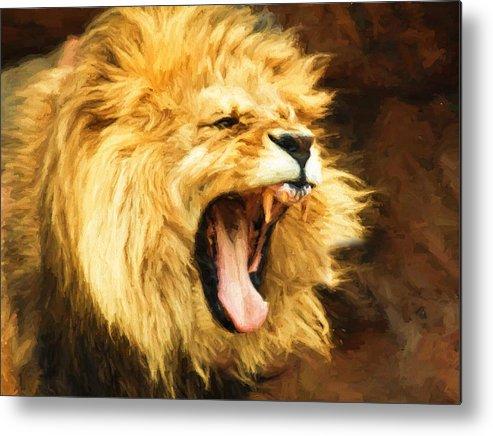 Roaring Lion Metal Print By Kaylee Mason