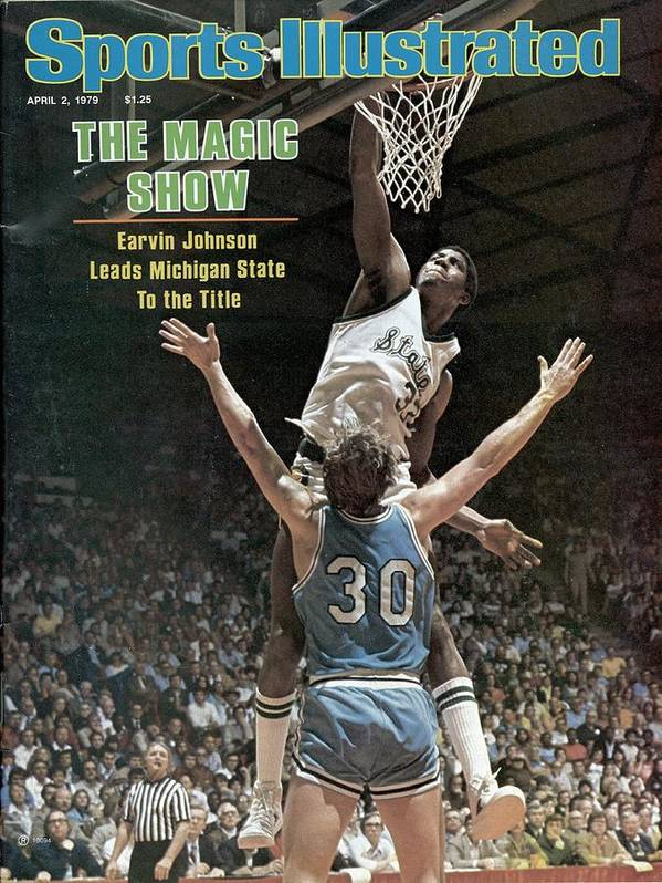 michigan state magic johnson 1979 ncaa national sports illustrated cover poster