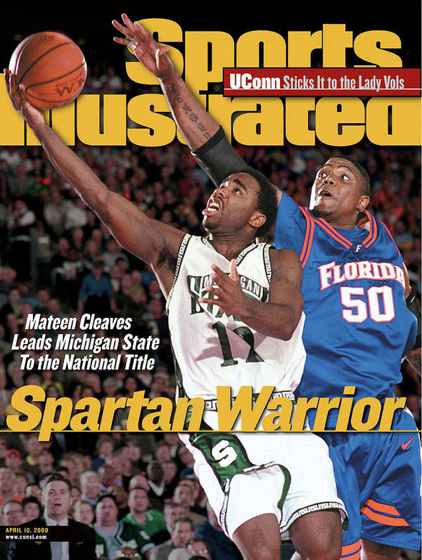 michigan state university mateen cleaves 2000 ncaa sports illustrated cover poster