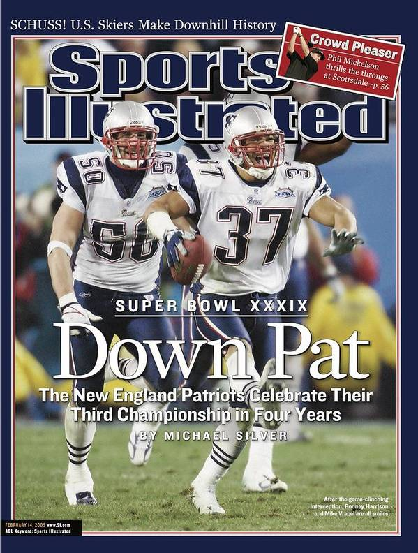 new england patriots rodney harrison and mike vrabel super sports illustrated cover poster