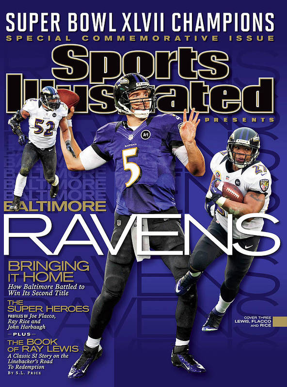super bowl xlvii champion baltimore ravens sports illustrated cover poster