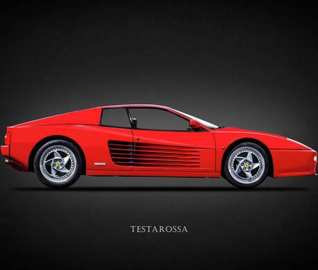 Ferrari Poster Featuring The Photograph The Ferrari Testarossa By Mark Rogan