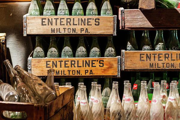 Vintage Soda Bottles in Crates Poster by Steven Green