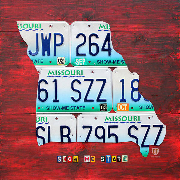 License Plate Map Of Missouri - Show Me State - By Design ...