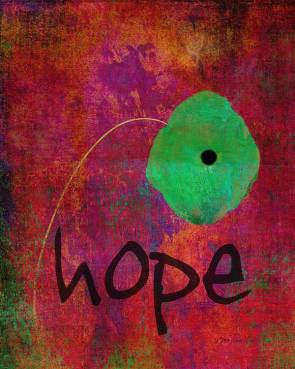 Hope - Abstract Flower Art Poster by Ann Powell
