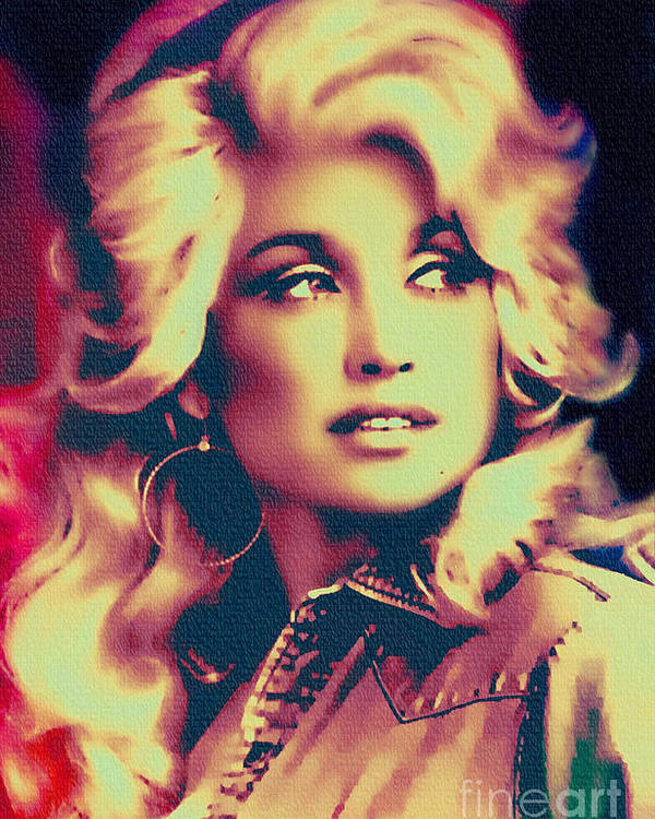 dolly parton vintage painting poster