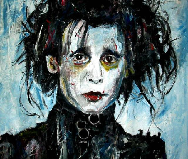 Johnny Poster Featuring The Painting Edward Scissorhands Johnny Depp By Marcelo Neira