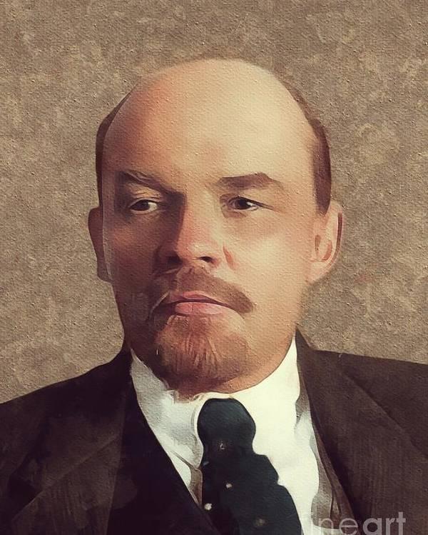 Vladimir Lenin, History Portraits Poster by Mary Bassett