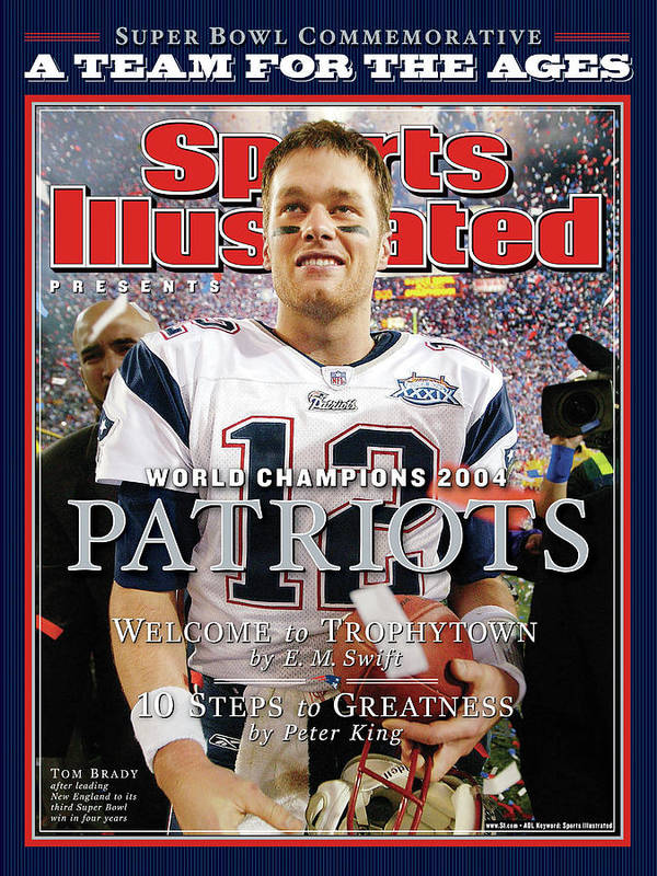 new england patriots super bowl xxxix champions sports illustrated cover poster