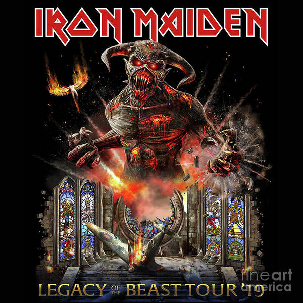 iron maiden legacy of the beast tour 2019 poster