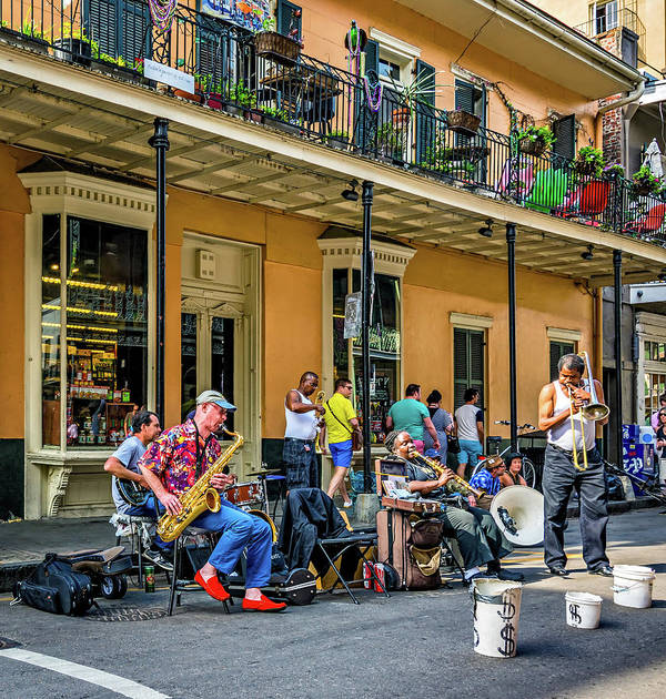 French Quarter Art Print featuring the photograph Doreen's Jazz New Orleans 2 by Steve Harrington