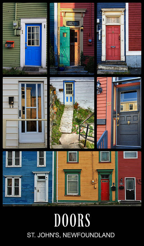 Doors In St. Johns, Newfoundland art print by Tatiana Travelways.