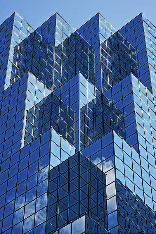 Blue Art Print featuring the photograph Blue Geometry In Ottawa, Canada by Tatiana Travelways