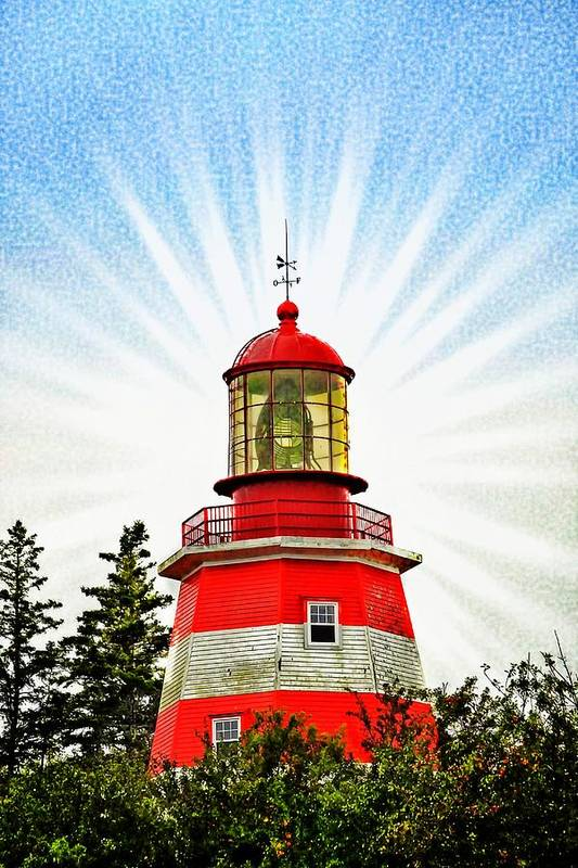 Red And White Lighthouse Pubnico by Tatiana Travelways