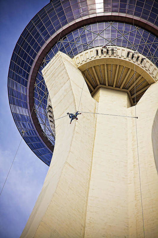 Las Vegas Art Print featuring the photograph Stratosphere Jumper, Las Vegas by Tatiana Travelways