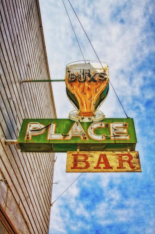Old bar sign in Challis Idaho