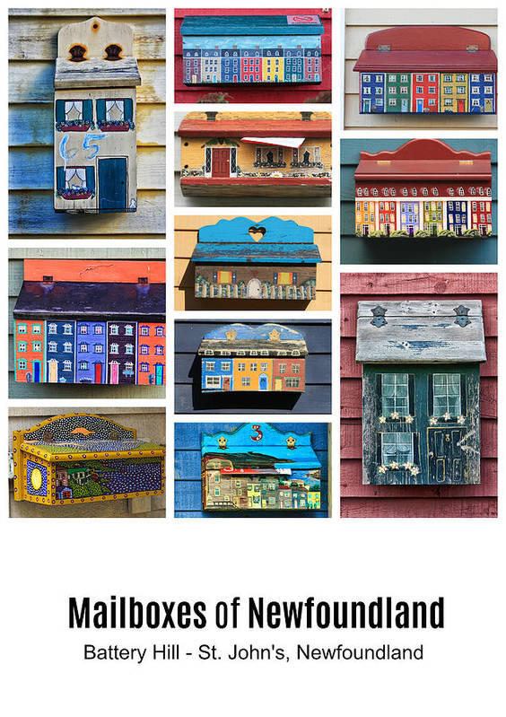 Mailboxes Art Print featuring the photograph Mailboxes Of Newfoundland Poster by Tatiana Travelways