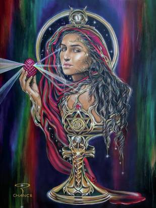 Mary Magdalen - The Holy Grail Art Print by Robyn Chance