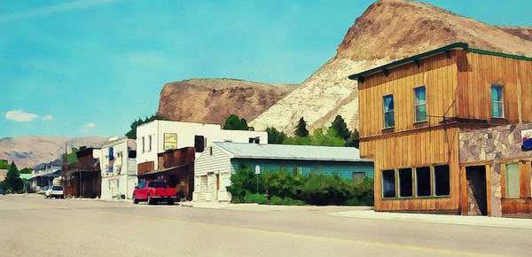Historic Buildings Art Print featuring the photograph Historic Buildings In Challis Idaho by Tatiana Travelways