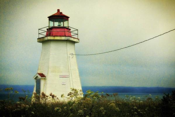 Lighthouse Art Print featuring the photograph Lighthouse Nova Scotia by Tatiana Travelways