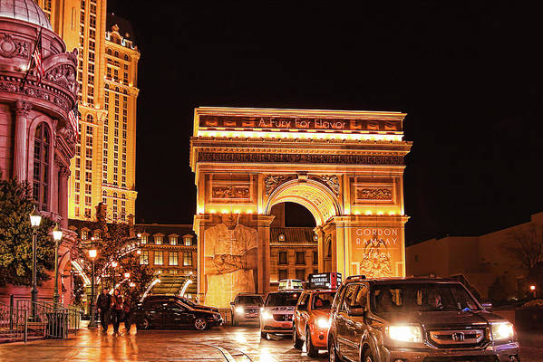 Arc De Triomphe Art Print featuring the photograph Paris, Las Vegas by Tatiana Travelways