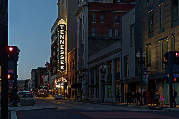 Downtown Knoxville, TN after dark
