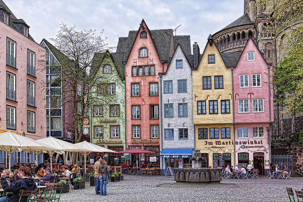 Sidewalk Cafes in Cologne, Germany at springtime by Tatiana Travelways