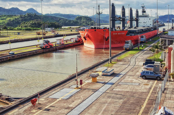 Panama Art Print featuring the photograph Crossing Panama Canal by Tatiana Travelways