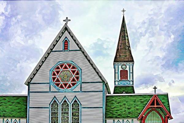 Heritage Art Print featuring the photograph Heritage Church In Trinity, Nfl by Tatiana Travelways