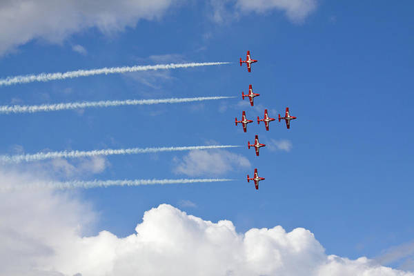 Acrobatic Flight Art Print featuring the photograph The Snowbirds In Flight by Tatiana Travelways