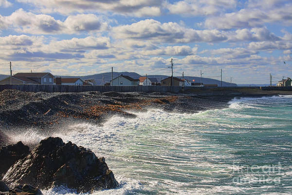 Cape Bonavista Art Print featuring the photograph Cape Bonavista Coastline Fence 7 by Tatiana Travelways