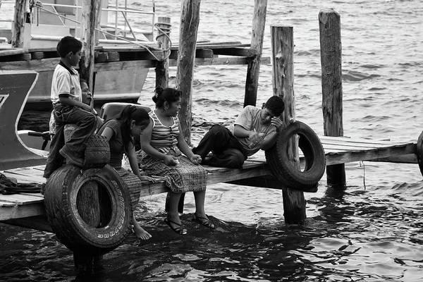 Fishing Art Print featuring the photograph Fishing At Atitlan Lake, Guatemala by Tatiana Travelways