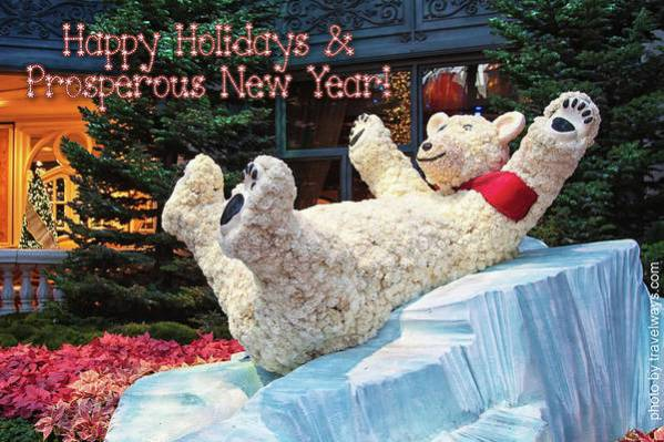 Happy Holidays Art Print featuring the photograph Happy Holidays And Prosperous New Year by Tatiana Travelways