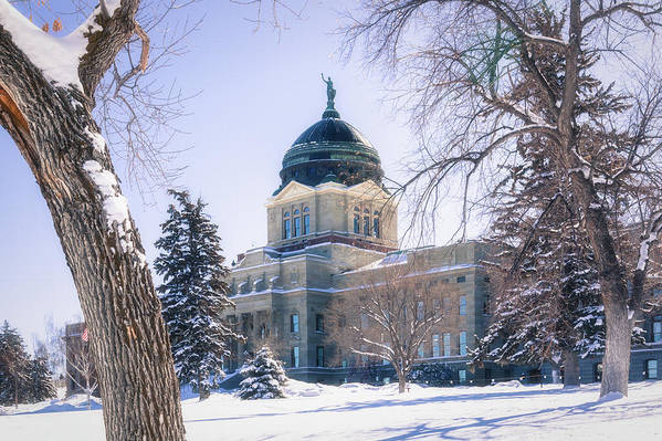 State Capitol Art Print featuring the photograph Montana State Capitol Building In Helena, Montana by Tatiana Travelways