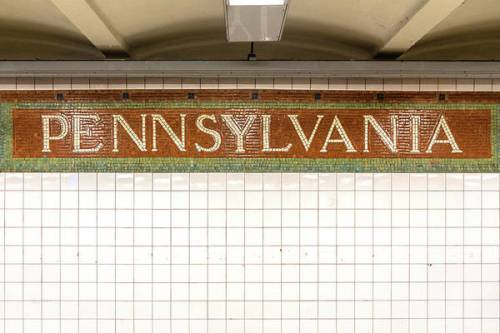 Pennsylvania Station mosaic sign