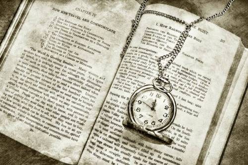 book and pocket watch