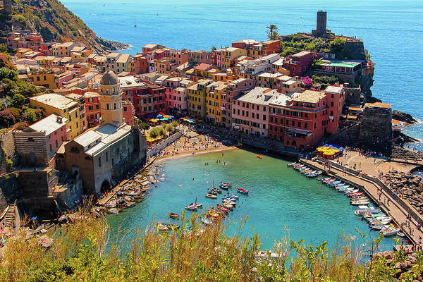View of Vernazza from Trail towards Monterosso By Aashish Vaidya