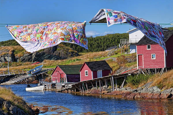 Quilts Art Print featuring the photograph Newfoundland Quilts by Tatiana Travelways