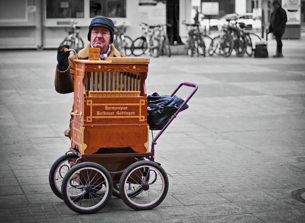 Organ Art Print featuring the photograph Organ Grinder by Tatiana Travelways