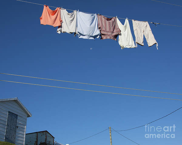 Laundry Art Print featuring the photograph Laundry Morning In Fogo Island, Newfoundland by Tatiana Travelways