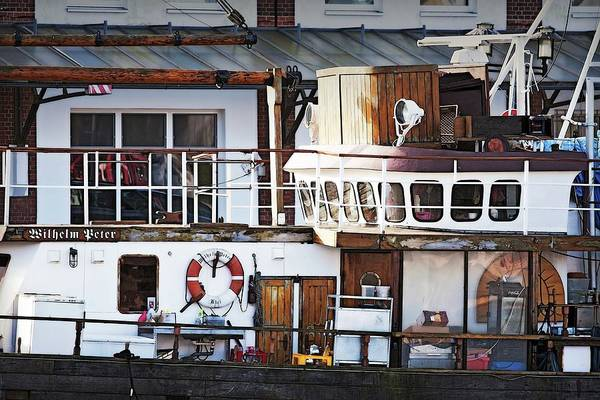 Boat Art Print featuring the photograph Houseboating in Bremerhaven Germany by Tatiana Travelways